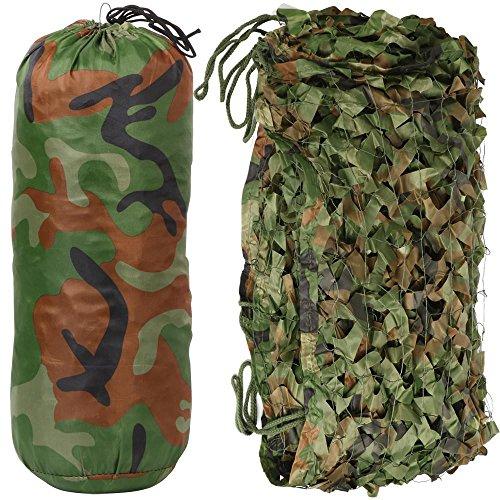 Yaheetech Woodland Camo Net Camouflage Net Tarnnetz für Jagd Camping in Größen S/M/L -