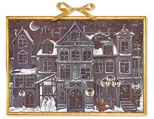 Holz-Steckmotiv Inhalt: 2 Häuser, 1 Kirche, 1 Tannenbaum, 7 Sterne