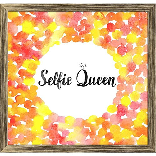 ArtzFolio Selfie Queen Tabletop Painting Antique Golden Frame 12.6 X 12Inch (Queen-size-split-box)