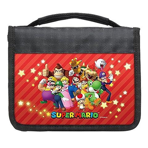 Hori 3DS-400E - Set d'accessoires Mario Nintendo 3DSXL - Sacoche + Boitier de Rangement + Stylet