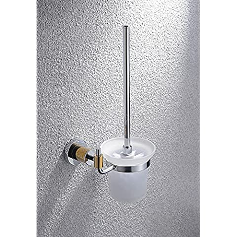 SBWYLT-Escobillero baño de gama alta de la atmósfera alambre de cobre óxido de múltiples capas de la galjanoplastia sostenedor de cepillo del