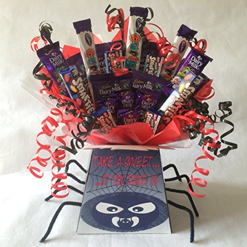 Kids Halloween Party Spooky Spider Sweet Chocolate Bouquet Hamper