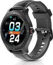 Smartwatch, BlitzWolf IP67 Orologio Smart, 1,3'' Schermo Tattile Full HD, Rilevatore di attività, Cardiofrequenzimetro, Pedo