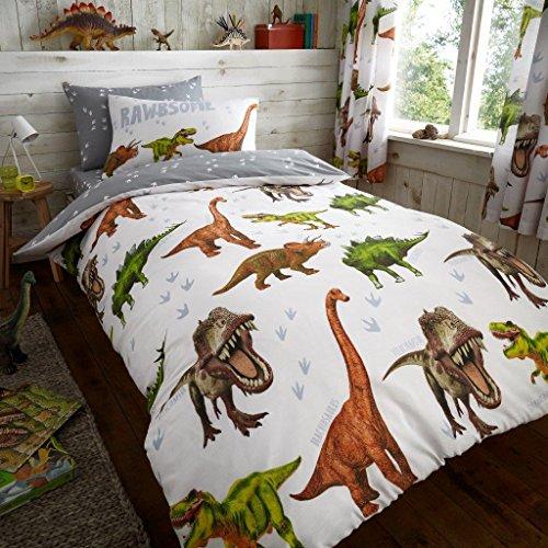 Lujo y moderno niños Rotary Multi Character edredón/edredón y funda de almohada juego de ropa de cama y sábana bajera se vende por separado, diseño de dinosaurio, Duvet cover with pillowcase