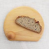 Frühstücksbrettchen halbrund mit Loch | Brotbrett aus Holz | Frühstücksbrett | Schneidebrettchen | Buche