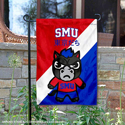 Smu Mustang Logo (Sewing Concepts Südliche Methodist Mustangs Tokyodachi Gartenflagge)