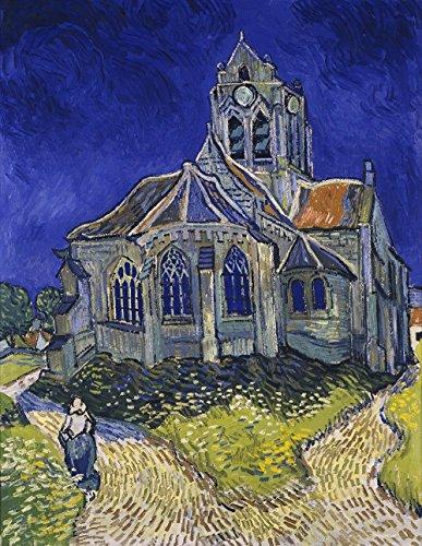 Spiffing Prints Vincent Van Gogh - The Church in Auvers-Sur-Oise 1890 - Large - Matte Print -