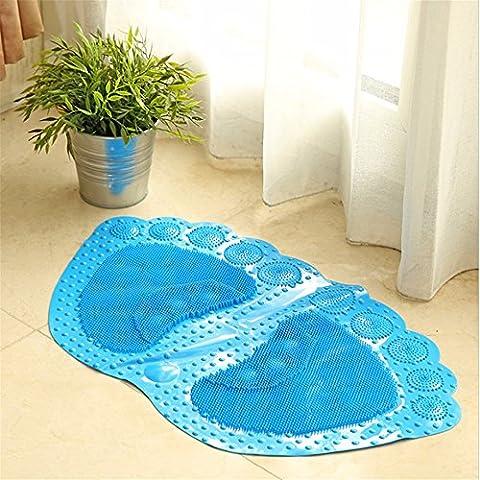 Dusche Massage Badematte Badematte Wc Matte Eau De Toilette, Blau, 66 * 36Cm