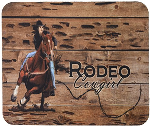Rodeo Cowgirl Barrel Racer Maus Pad, Hot Pad oder Untersetzer sb3055mp (Cowgirl Rodeo Western)