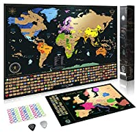wanderlust scratch off world map parent