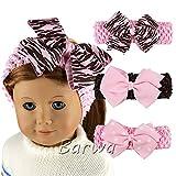 Barwa Headband 3 Piece Stretchable Headband pink butterfly for 18 Inch American Girl