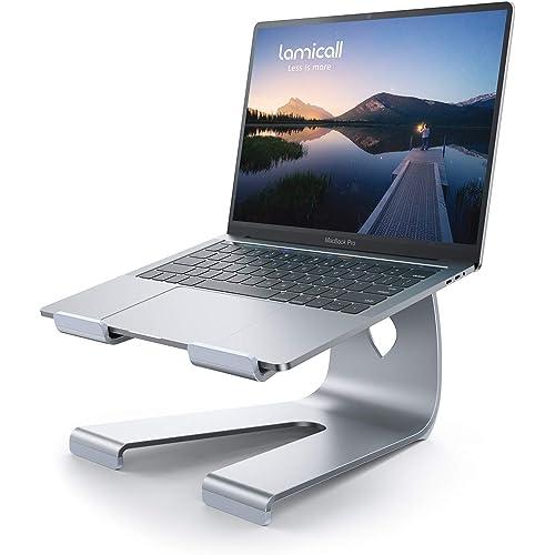 """Lamicall Supporto per PC Portatile, Supporto Laptop Notebook - Universale Supporto Stand Dock per 2020 MacBook PRO, MacBook Air dell XPS, HP, Samsung, Lenovo, Altri 10""""~17"""" Notebooks - Argento"""