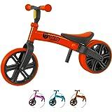 YVolution Y Vélo Junior pour Enfant | vélo d'équilibre sans pédale | Âge 18 Mois à 4 Ans, Rouge