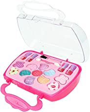 TOYMYTOY Girl's Princess Pretend Traveling Make-up Box Vanity Beauty Salon Cosmetic Washable Case