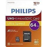 Philips scheda micro, SDXC 64GB Classe 10con adattatore