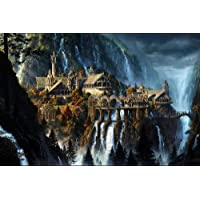FFLFFL 500 Piece Puzzle Impossible Puzzles Lord of the Rings Abbey Craft Gifts Family Classic Puzzle