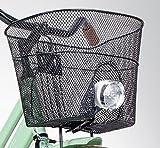 Basil Vorderradkorb mit Halterung Lampen-Aussparung Fahrrad Korb Vorne Einkaufskorb Schwarz