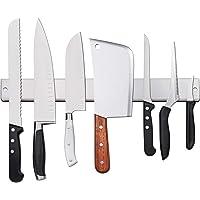 AidSci Amélioré 50cm Porte-Couteaux Magnétique, Barre à Couteaux Aimantée en Acier Inoxydable - Mural Support Aiguiseur…