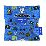 Roll'eat Snack'n'Go-KIDS Piratas blau - Snack Bag wiederverwendbar