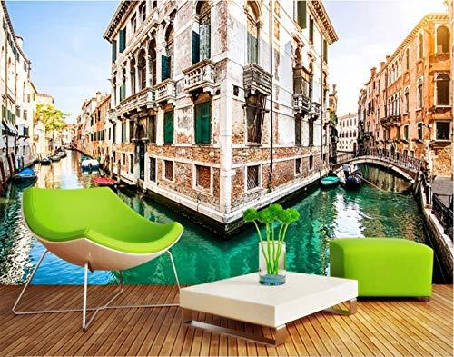 Custom Any Size Venice City Canal 3D Hintergrund Wandbild Wandaufkleber Ausgangsdekor Tapete Wandbild