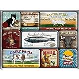 Nostalgic-Art 83032 - Juego de 9 imanes, diseños con animales