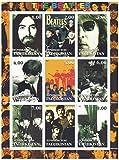 Klassische Beatles-Fotos - 9 Briefmarken für Sammler auf einem tadellosen Zustand Briefmarkenbogen - Nicht montierte und frisch