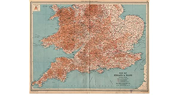 Map Of England Roads.England Wales South Road Map A B Roads Pre Motorways Large