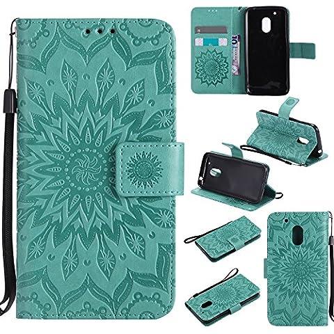 Dooki, Moto G4 Play Hülle, PU Ledertasche Ständer Brieftasche Flip Schutzhülle für Motorola Moto G4 Play mit Kredit Kartenfächer NOT FOR MOTO G4 / G4 PLUS
