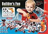 Kidoloop Junior Engineer Kids Construction Tool Kit Builders Play Set Building Toy 280+ Parts