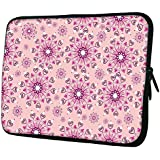 """Snoogg Pink Pattern 13"""" 13.5"""" 13.6"""" Inch Laptop Notebook Slipcase Sleeve Soft Case Carrying Case For MacBook Pro Acer Asus Dell Hp Sony Toshiba"""