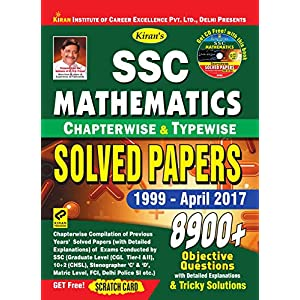 SSC MATHEMATICS Chapterwise & Typewise Solved Papers 1999 – till date 8900+ objective questions [eBook]