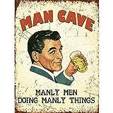 Blechschild Man Cave 15x20