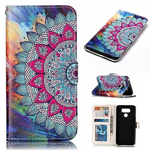 Nancen LG G6 (5,7 pouces) coque Haute Qualité PU Cuir Flip Étui Coque de Protection Wallet / Portefeuille Case Cover Housse - Avec Carte de Crédit Fente, Fermeture Magnétique, pour protéger votre téléphone
