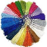 100Pcs Quasten Terylene Anhänger Handgefertigte Troddel Bommel Tassel mit Schleifen für Schmuckherstellung DIY Projekte Lesezeichen 13cm/5 Zoll (20 Farben)