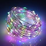 Colleer®10m 100er LED Lichterkette(Batteriebetrieben) ideale LED-Beleuchtung für Valentinstag, Weinachten und Hochzeit Fest (bunt)