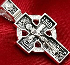 Rare Croix Celtique Icône Orthodoxe Russe