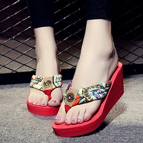 Estate Sandali Sandali con scarpe da spiaggia Sandali con tacco alto Sandali con pattini antisdrucciolevoli con taglie Colore / formato facoltativo 1004