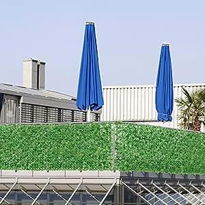 bl tterzaun 100 x 300 cm sichtschutz balkon. Black Bedroom Furniture Sets. Home Design Ideas