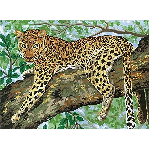 Lazing Leopard stampa su tela per tappezzeria