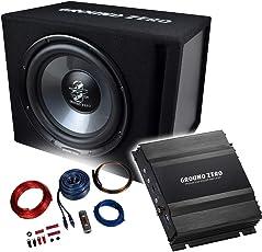 Ground Zero Basspaket 2-Kanal Endstufe/Verstärker+30cm Subwoofer+Kabel-SET/GZIB-300XBR + GZIA-2080HPX-II + REN10KIT