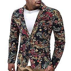 b5560e76d9e2 Logobeing Chaqueta de Traje para Hombre Chaquetas para Hombre de Vestir  Blazer Hombre Casual Chaqueta de Abrigo Tops
