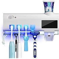 Porte Brosse à Dents Stérilisateur UV, Support de Brosse à Dents Electrique à énergie Solaire Rechargeable au Mur avec…