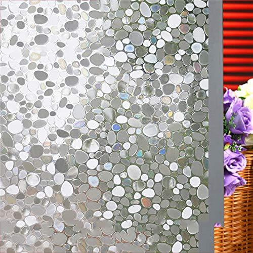 3d Mosaik Fensterfolie, Entfernbar Glas aufkleber Kein kleber Statische Fleck Tönung Sonnenschutzfolien Statische klarsichtfolie Anti-uv Für badezimmer Schlafzimmer Home Office -E 60x300cm(24x118inch)