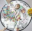 Comfysail Baby Kids World Map Playmat Round Canvas Storage Bag carpet Diameter 130cm Beige(not White)