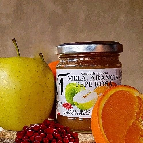 confettura mela, arancia e pepe rosa