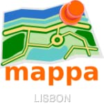 Lisbon, Portugal, Offline mappa Map -...