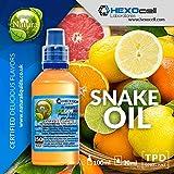 E LIQUID PARA VAPEAR - 30ml Snake Oil (Frutas cítricas, pera, fresa, regaliz, koolada/hielo) Shake and Vape E Liquido para Cigarrillo Electronico, Shake n Vape Eliquido sin Nicotina
