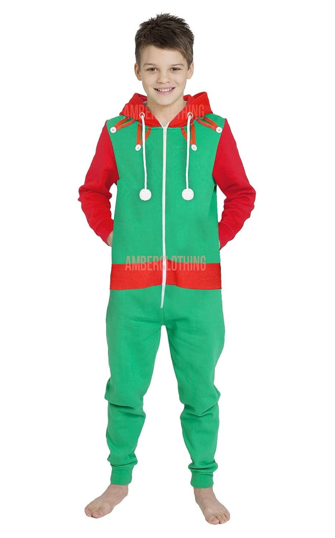 Novelty Unisex Mens Ladies Elm Santa All in One Christmas Onesie ...