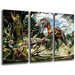 Cuadro Buda fotografico base madera, 97 x 62 cm, Dinosaurios, T-Rex ref. 26038