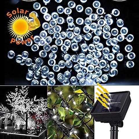 Expower Stringa di Luce 100 LED 10M, Striscia Impermeabile LED a Energia Solare Illuminazione Decorazione per Natale Feste Outdoor Giardino Nozze Party(